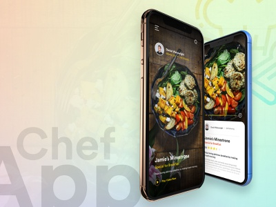 Chef App - Concept UI card designs adobe xd concept design uxdesign uidesign interaction design app design ui design