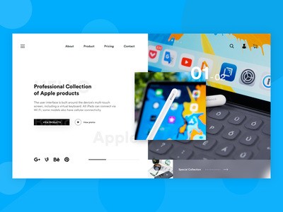 Landing page banner applepencil apple design concept design adobe xd uxdesign uidesign interaction design ui design