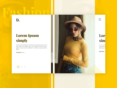 Fashion Banner UI invision interaction concept design uxdesign yellow uiux banner design fashion interaction design ui design