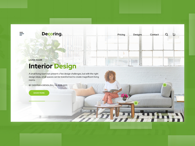 Landing Page - Exploration website design landingpage shopping interior concept design adobe xd uidesign interaction design ui design