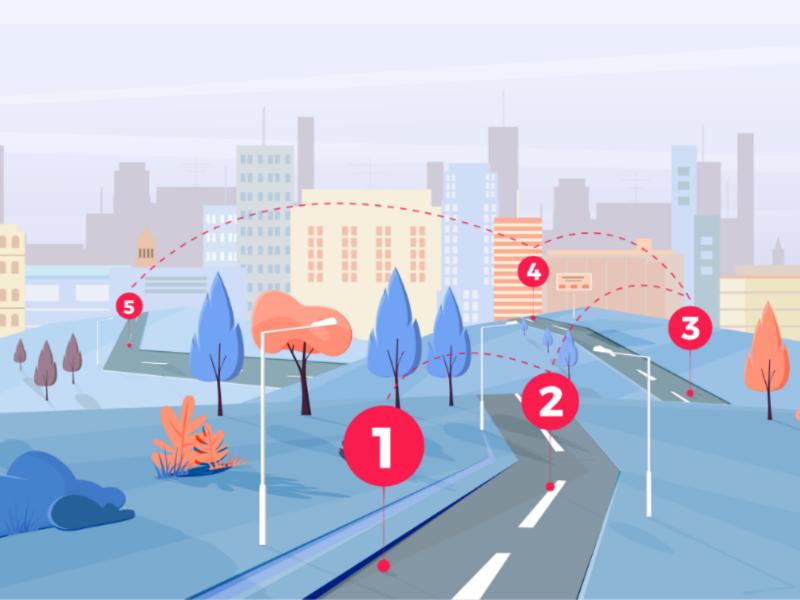 City infographic adobeillustrator design illustration vector cityscape buildings infographic city