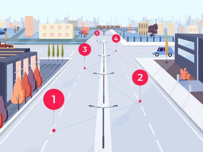 City infographic 2 adobeillustrator illustration vector infographic buildings train bridge streets city