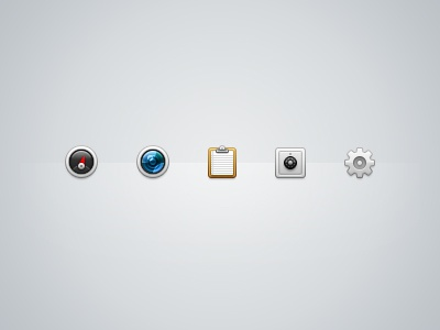 Toolbar icons extract