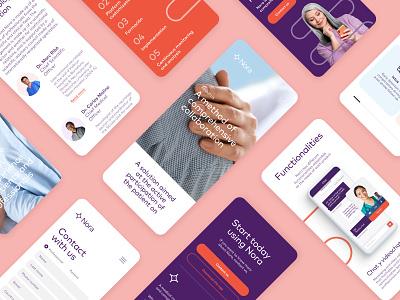 Nora · Healthcare website health app design responsive design healthcare website mobile