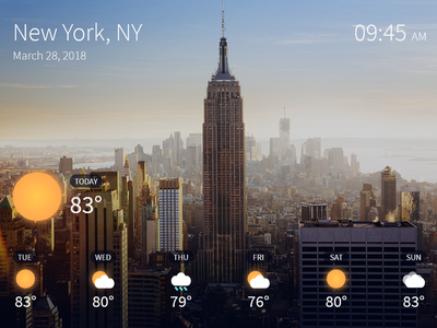 Weather ux