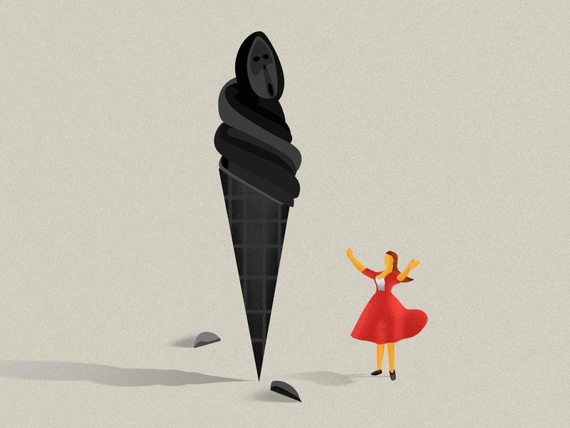 Icecream illustration wingsbranding lifestyle