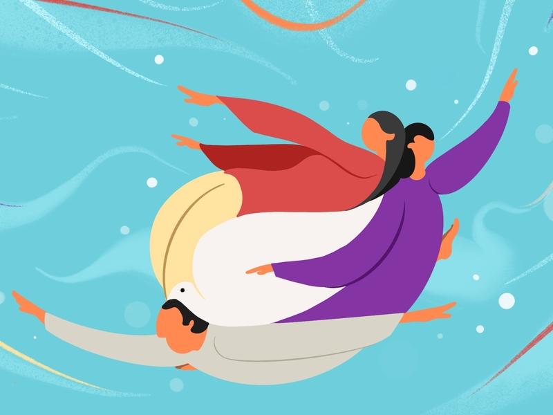 Family Dove poster wingsbranding illustration