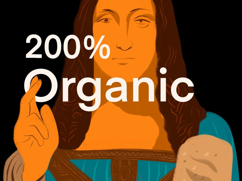 200%  Organic illustration
