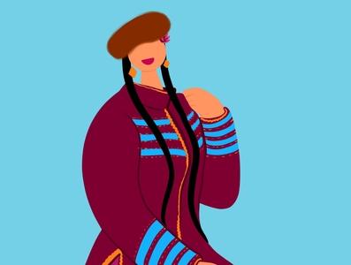 Uyghur Dancer uighur uyghur illustration