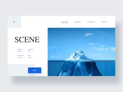 Landscape pages design 网页设计 品牌