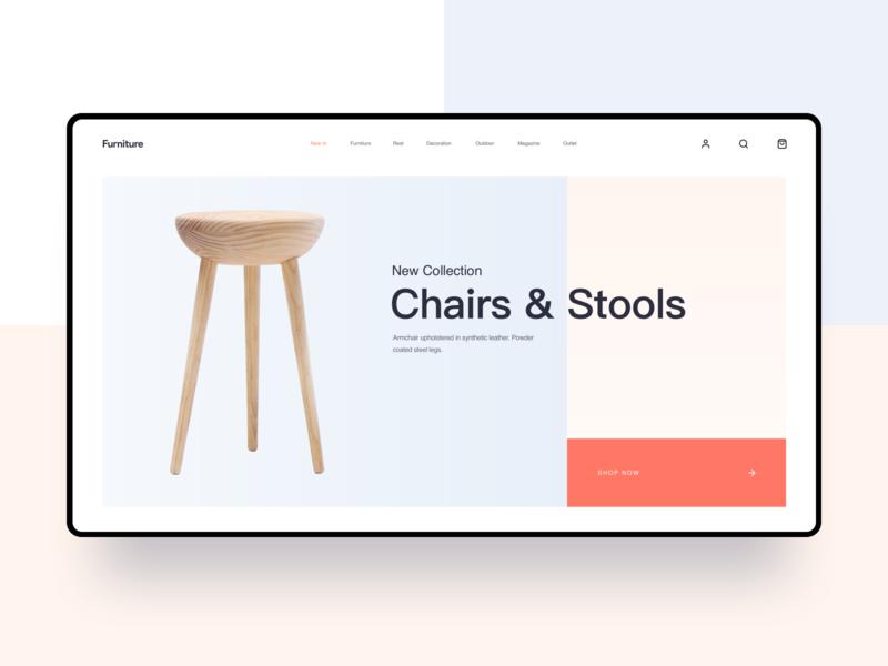 Furniture store shopping website 网页 design 品牌