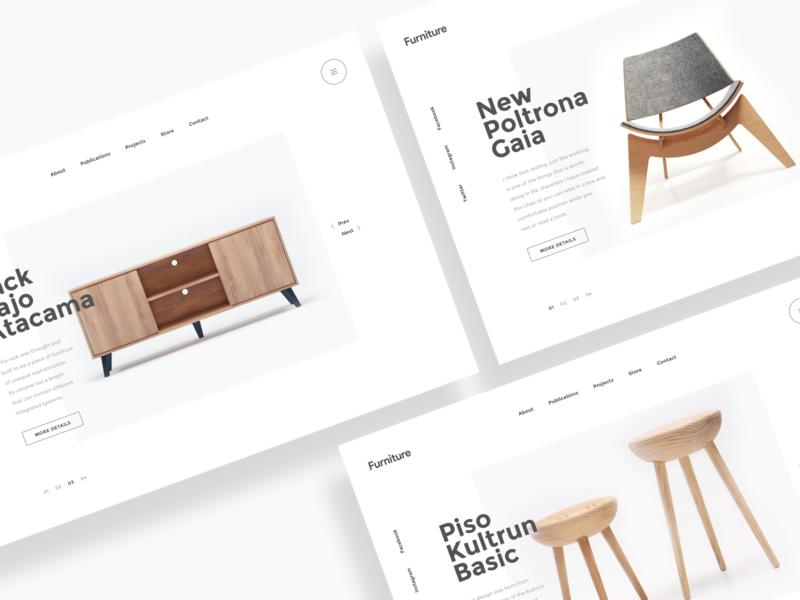 Furniture store web style exploration 网页 ux branding ui 品牌