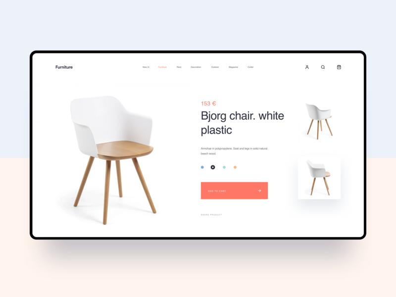 Furniture purchase regular page design 网页 应用 品牌