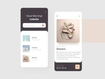 Shopping application UI design 商城 品牌 用户体验 时尚 application design
