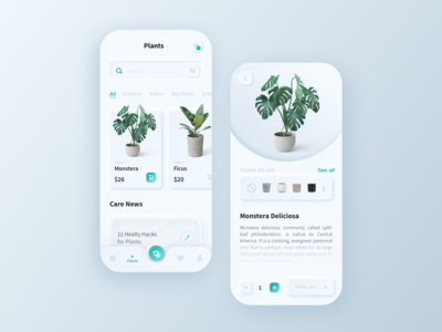 Iot applications for flowers and plants 风格 新拟态 设计 商城 branding ux ui 应用 品牌