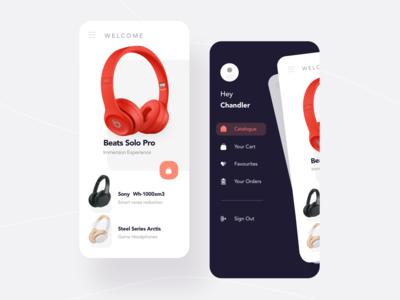 mall 网页 应用 ux design 耳机 购物商城 品牌