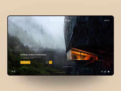 Creative Community Website 讨论 设计 用户体验 ux 品牌 网络基站发射器 网络 网站 界面 排版