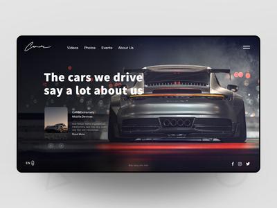 Automobile Business Website 品牌 车 用户界面 用户体验 网站 电子商务