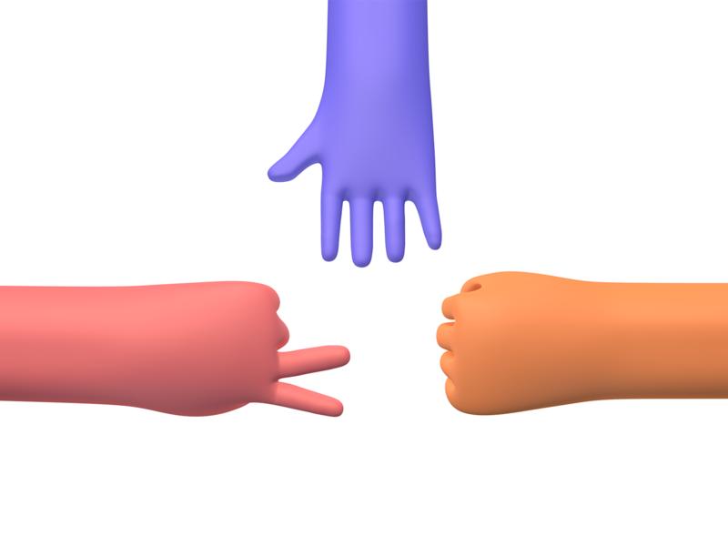c4d hand 3d designer render c4dart skeleton key skeleton