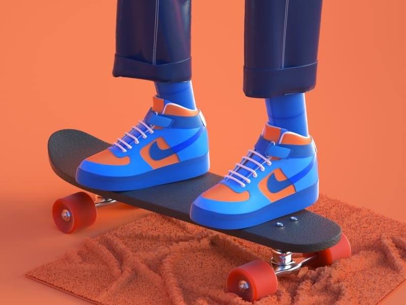 3d shoes photoshop vector octane 3d art ui branding illustrations  wallpaper design character c4d