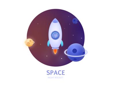 SPACE ae illustrations  wallpaper ui