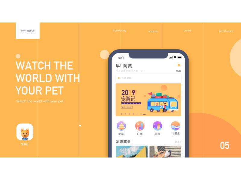 pet app photoshop design ui