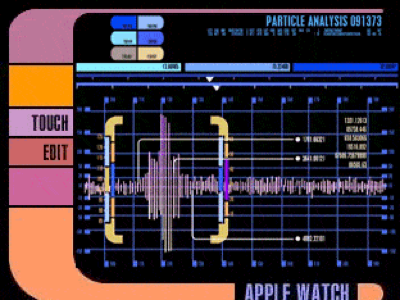 LCARS Particle Analysis Animated Apple Watch Face kid1carus animation watch face apple watch star trek lcars