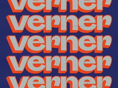 Verner artist branding logo design identity design typography design logo colorful branding texture identity graphic designer graphic design music artist branding