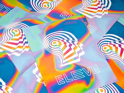 Eleve Branding logo design music design logos brand design identity identitydesign graphic design colorful psychedelic logo logodesign branding