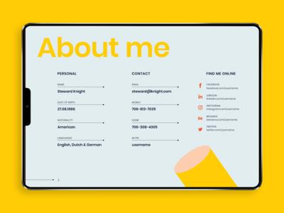 Digital Creative Resume [screen 1]