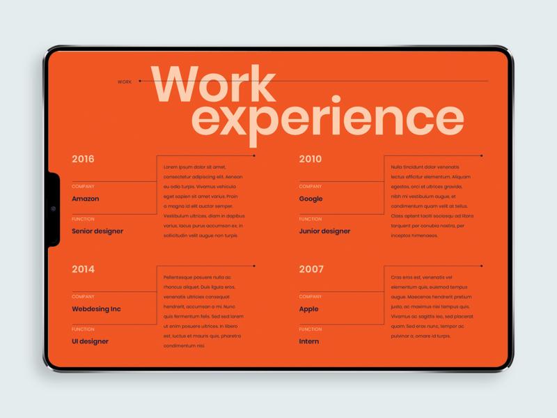 Digital Creative Resume [screen 2] minimal vector typography typographic minimalist colorful digital product resume swiss style design