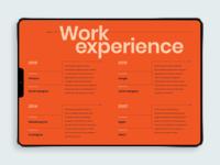 Digital Creative Resume [screen 2]