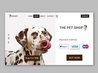 Doggy Shop Header Exploration #4.