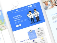 Health care web page design templates