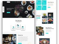 Restaurant Website Concept.