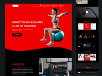 Gym & Fitness landing page concept .