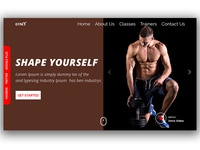Gym & Fitness header section.