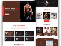 Gym landing page concept .