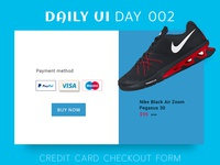 Cradit card Daily Ui Challenge Day 002