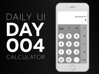 Daily Ui Challenge 004 - Calculator