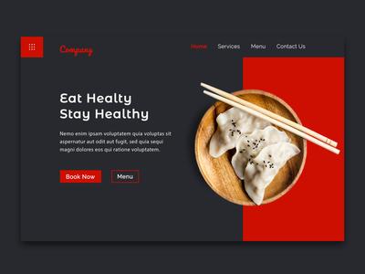 Restaurant Tamplate Design header section