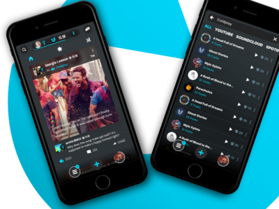 Feed & Search concert artist ux ui iphone ios social event feed search post music