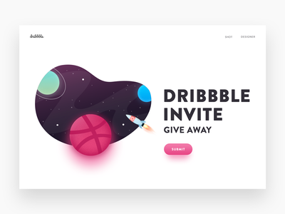 Dribbble Invite free space giveaway give away invite