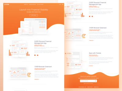 CHDR Landing Page webflow financial fintech wave illustration landing page