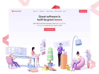 Simform gets a New Look web design user experience user interface user experience design user interface design designer developers illustration branding ui logo design ux