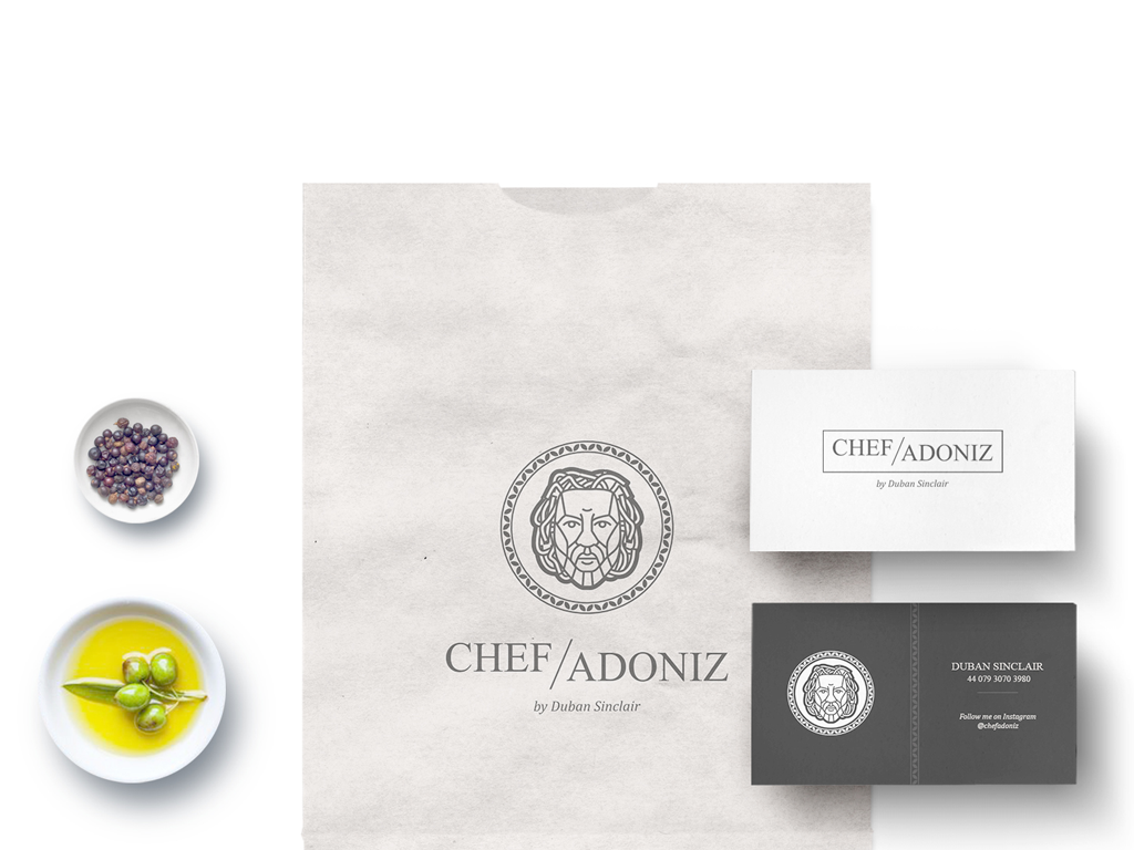 Chef Branding Based On Facial Features logo design process illustration logo branding