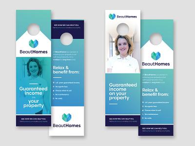 Doorhanger Design For BeautHomes branding design marketing material photoshoot marketing branding