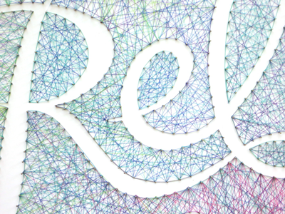Relax & Unwind string pin tactile typography