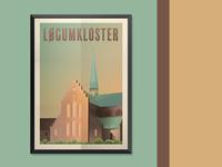 Løgumkloster poster design