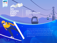 Illistration for an upcoming ski expo
